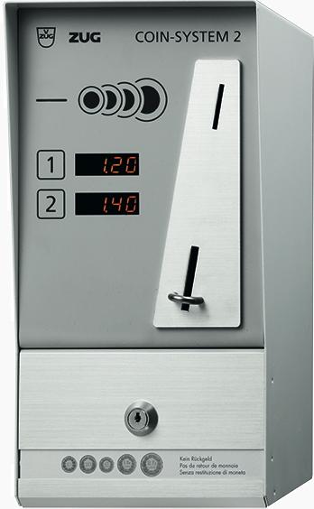 v zug coin system 2 f r betrieb von 2 ger ten silver tech. Black Bedroom Furniture Sets. Home Design Ideas