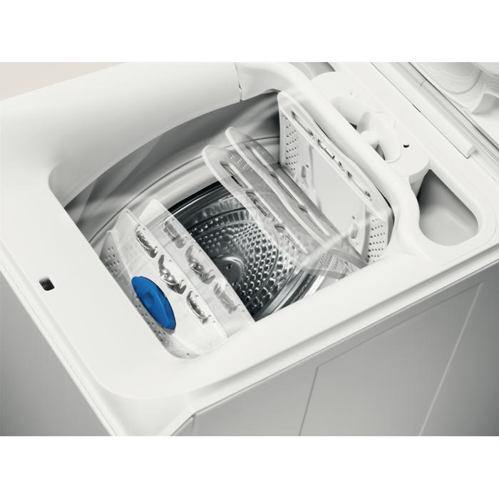 electrolux wasl3t201 waschmaschine toplader 6 kg grosse lcd anzeige schleuderleistung 1500 u. Black Bedroom Furniture Sets. Home Design Ideas