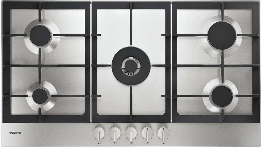 gaggenau cg291210de gas kochfeld 90cm serie 200 silver. Black Bedroom Furniture Sets. Home Design Ideas